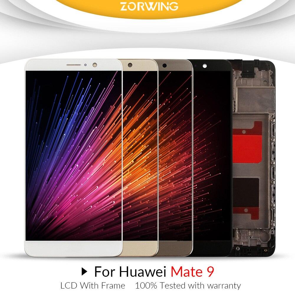 5.9 ''1920x1080 Affichage Pour HUAWEI Mate 9 LCD Écran Tactile Numériseur avec Cadre pour Huawei Mate 9 LCD MHA-L29 Pièces De Rechange