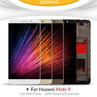 5.9'' 1920x1080 Display For HUAWEI Mate 9 LCD Touch Screen Digitizer with Frame for Huawei Mate 9 LCD MHA L29 Replacement Parts