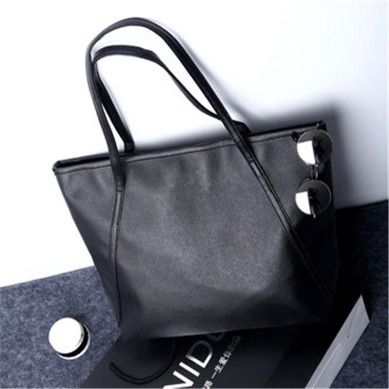 NIBESSER Simple Women Shoulder Bags PU Leather Large Capacity Casual Tote Handbags For Women 2017 Shopper Bag bolsas feminina