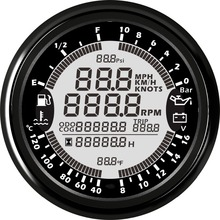 Tachometer Universal Multi-Function-Gauges 24V 12V Waterproof 6-In-1 Pressure-0--10bar