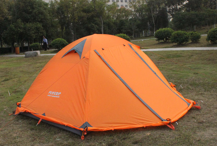 FLYTOP Outdoor Camping Tent For Rest Travel 2 Persons 3 Double Layer Windproof Waterproof Winter Professional Camp Tourist Tent (27)