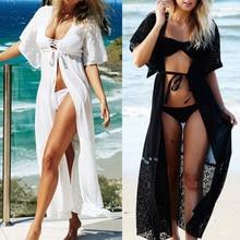 Pareo החוף ללבוש 2018 לחפות שיפון חלוק Plage קפטן שמלת Pareos לנשים חוף טוניקת סרונג בגד ים גלימת דה plage