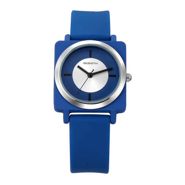 REBIRTH Perfect Gift watches women Leisure Sports Candy-colored Jelly quartz-wat