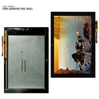 Para lenovo yoga livro YB1-X91F YB1-X91L display lcd digitador da tela de toque montagem do painel vidro para yogabook lcd