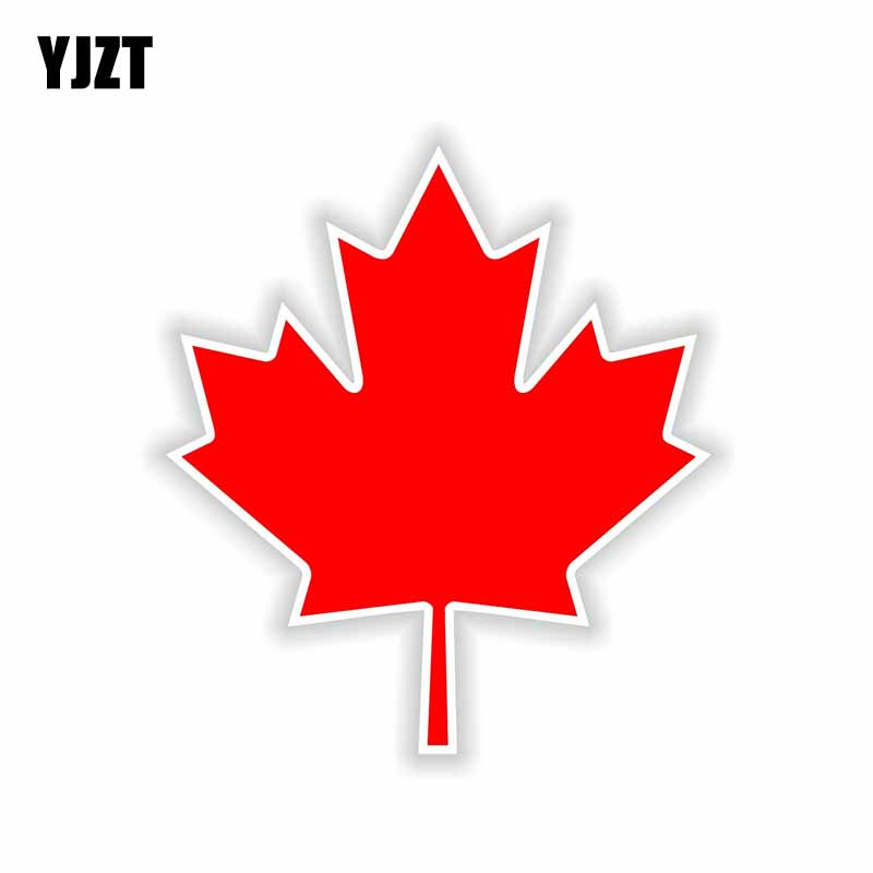 YJZT 11.7CM*13.2CM Personality Canada Flag Reflective Motorcycle Car Sticker Decal 6-1664