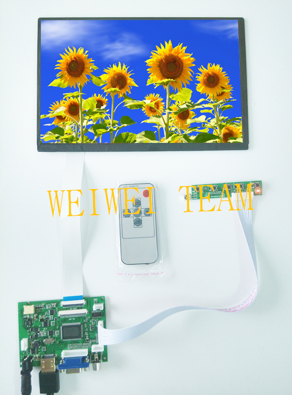 10.1 pour Raspberry PI 3 EJ101IA-01G 8 bits IPS écran LCD avec VS-TY2662-V2 HDMI VGA 2AV 40/50 broches carte contrôleur PC