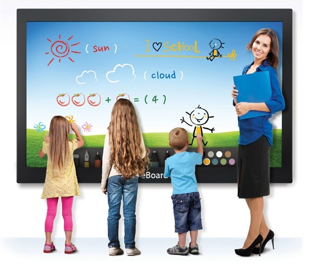 55inch 65inch 70 85inch Education Eboard Meeting Touch Screen All In One PC Wifi Lcd TFT HD 1920*1080 Tft CCTV Monitor Display