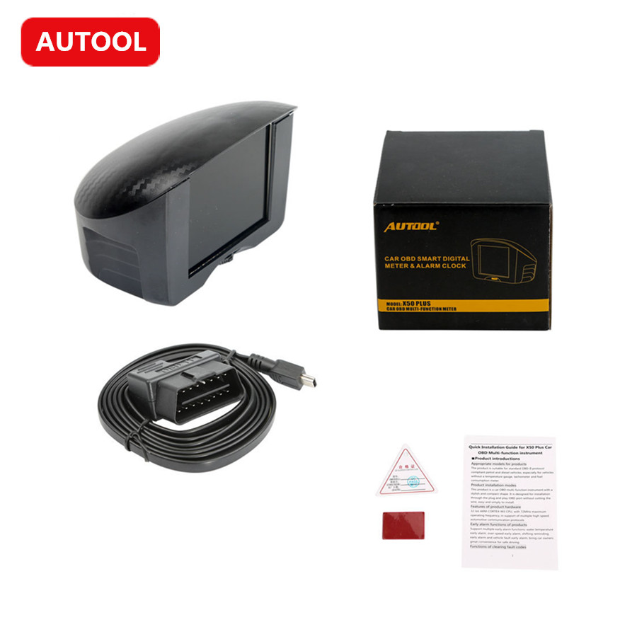 AUTOOL X50 PLUS Car OBD HUD Smart Digital Meter Car OBD HUD Multi function Digital Meter