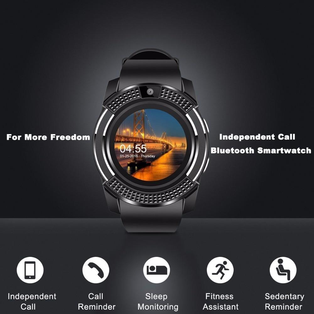 V8 SmartWatch Bluetooth Smartwatch Touch Screen Wrist Watch with Camera/SIM Card Slot, Waterproof Smart Watch DZ09 X6 VS M2 A1 18