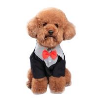 1 Unid Mascotas Perros Caballero Vestido de Boda Trajes de Novio Traje de Mascota Perro Traje Elegante Pajarita Formal Traje Del Partido