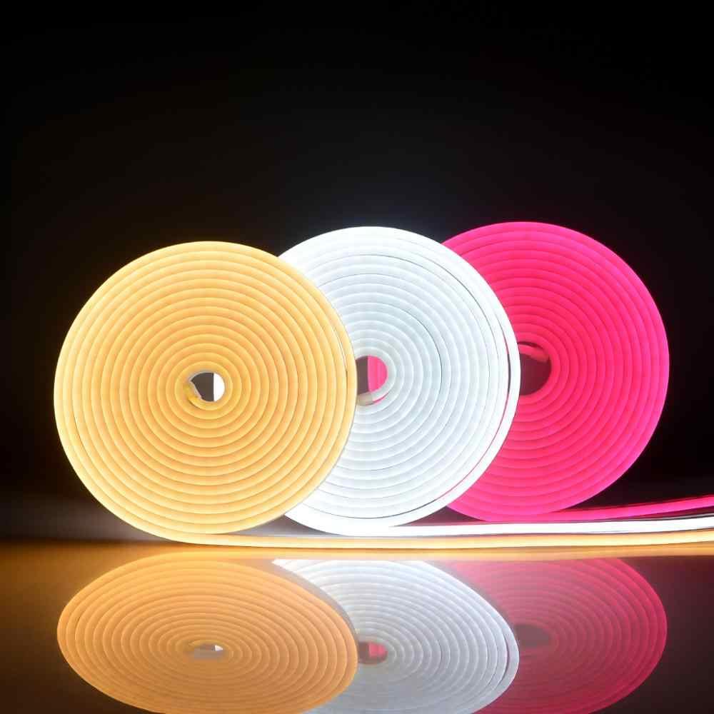 1M-5M şerit bant Neon ışık DC12V tüp LED ışık s DIY Neon burcu renkli gökkuşağı Led ışık için noel düğün ev duvar dekoru