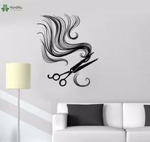 YOYOYU Vinyl Wall Decal Scissors Barber Tools Hair Salon Simple Art Modern Interiro Store Decoration Stickers FD511