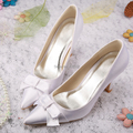 Wedopus MW068 Customized Fashionable Wedding Bridal Shoes White Pointy toe for Women with Bow