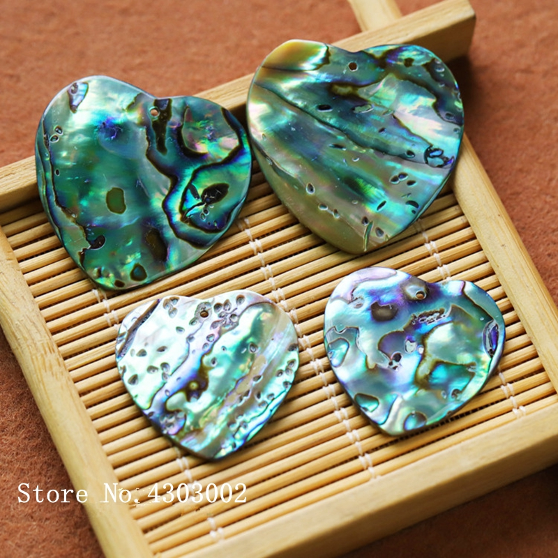 30pcs lot 25mm 30mm Natural Heart Abalone Shell Mother of Pearl shell for DIY Jewelry Heart