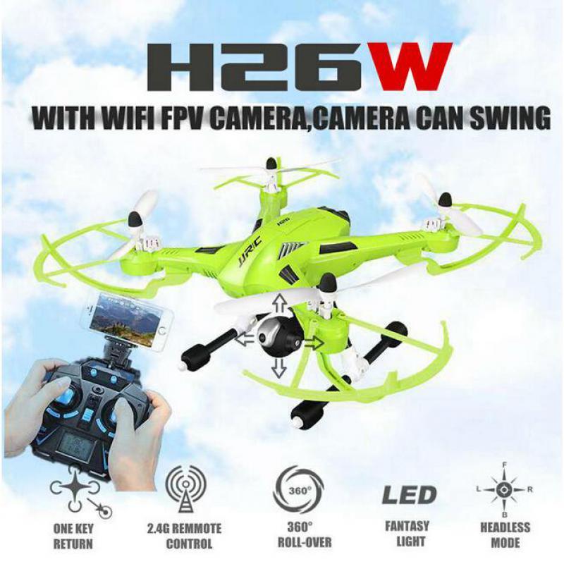 Jjrc h26 swing radio wifi cámara hexacopter drone profesional dron rc drones fpv