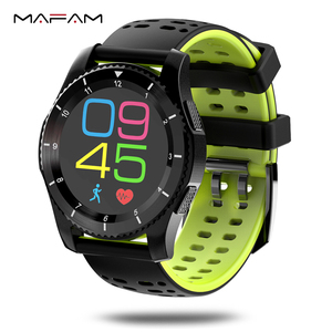Smart Watch Phone GPS SIM Card For Calls Heart Rate Monitor Pedometer Blood Press Pedometer Stopwatch>