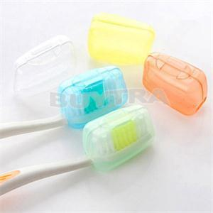 1set/5pcs Portable Travel Toothbrush Head Toothbrush Case Protective Caps Health Germproof Toothbrushes Protector image