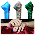 50 Sheets Multicolor Foil Galaxy Nail Art Tips Stickers Paper Colorful Shiny Decals Nail Art Decorations Manicure Random Color