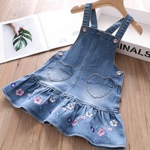 baby overalls for girls dress jeans denim kids clothes cute jumpsuit rainbow embroidery toddler childrens clothing boutiques Y