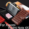 For Xiaomi Redmi Note 4X Case Luxury Crocodile Snake Leather Flip Cover Card Slot Business Wallet