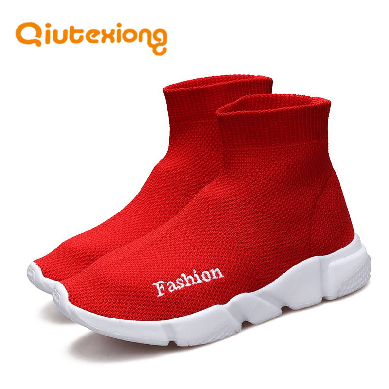 QIUTEXIONG Kids Sneakers For Children Shoes Boys Sneakers Girls Casual Shoes Sock Sneakers Shoe Breathable Mesh Slip-On SchoolQIUTEXIONG Kids Sneakers For Children Shoes Boys Sneakers Girls Casual Shoes Sock Sneakers Shoe Breathable Mesh Slip-On School