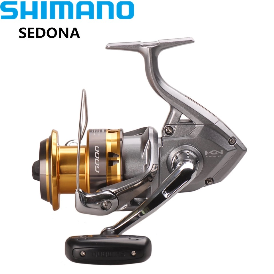 100% SHIMANO SEDONA6000/8000 Spinning Fishing Reel 3+1BB Hagane Gear Saltwater Carretes Pesca Reel Carretilha Moulinet Peche original shimano bass one xt 150 151 right left baitcasting reel 7 2 1 5bb 5kg svs syetem fishing reel carretilha moulinet peche