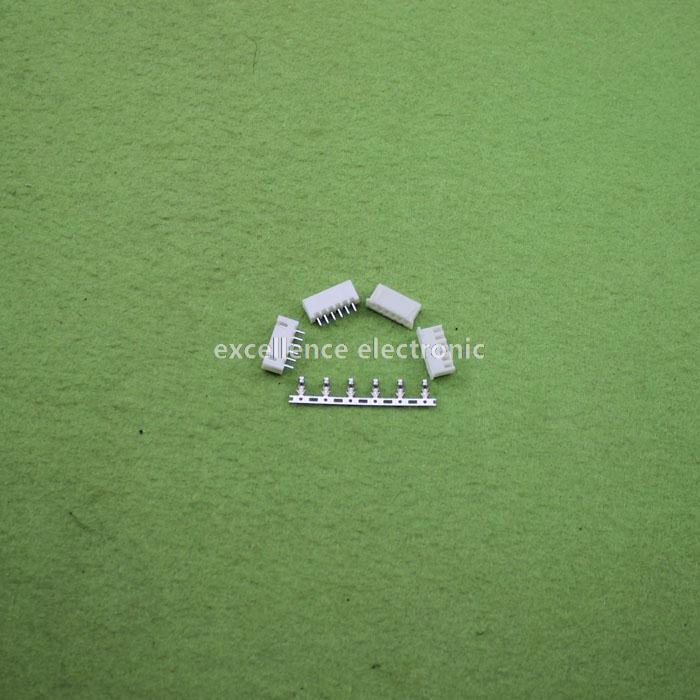 ФОТО 500sets/Lot 6 Pin Connector Leads Header 2.54mm XH-6P Kit Housing Pin header Terminal