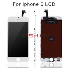 10PCS /LOT for iPhone 6 LCD display Full Assembly with Screen Replacement Lens Pantalla Black WhiteScreen Replacement free DHL