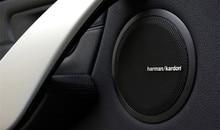 100pcs/lot harman/kardon Hi-Fi Speaker audio Speaker 3D Aluminum Badge Emblem stereo sticker 43x5mm