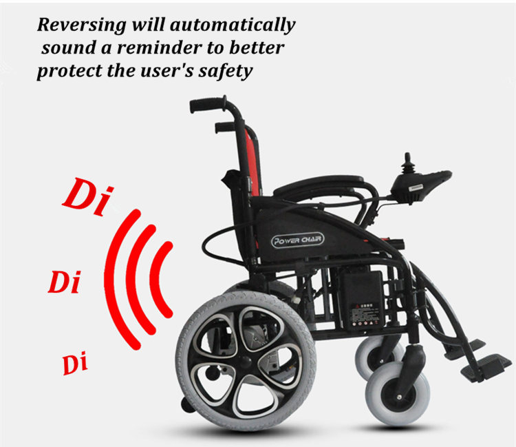 With automatically reversing Rminder High quality Clinbing ability electrical wheelchair and the price is competitive