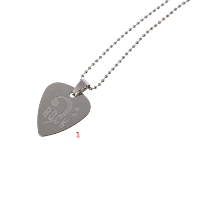 Stainless steel guitar picks necklace pick pendant love heart chain stainless steel guitar picks necklace pick pendant love heart chain decoration aloadofball Gallery