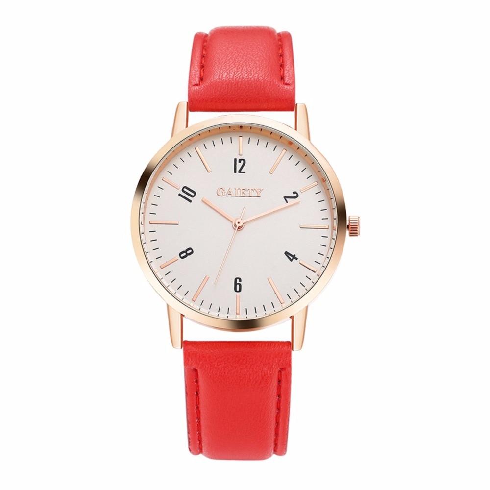 d69b9711f5c54 Mulheres da moda relógios de Quartzo de Couro PU Analógico Relógio do  Esporte Ocasional Relógio de Quartzo Das Mulheres