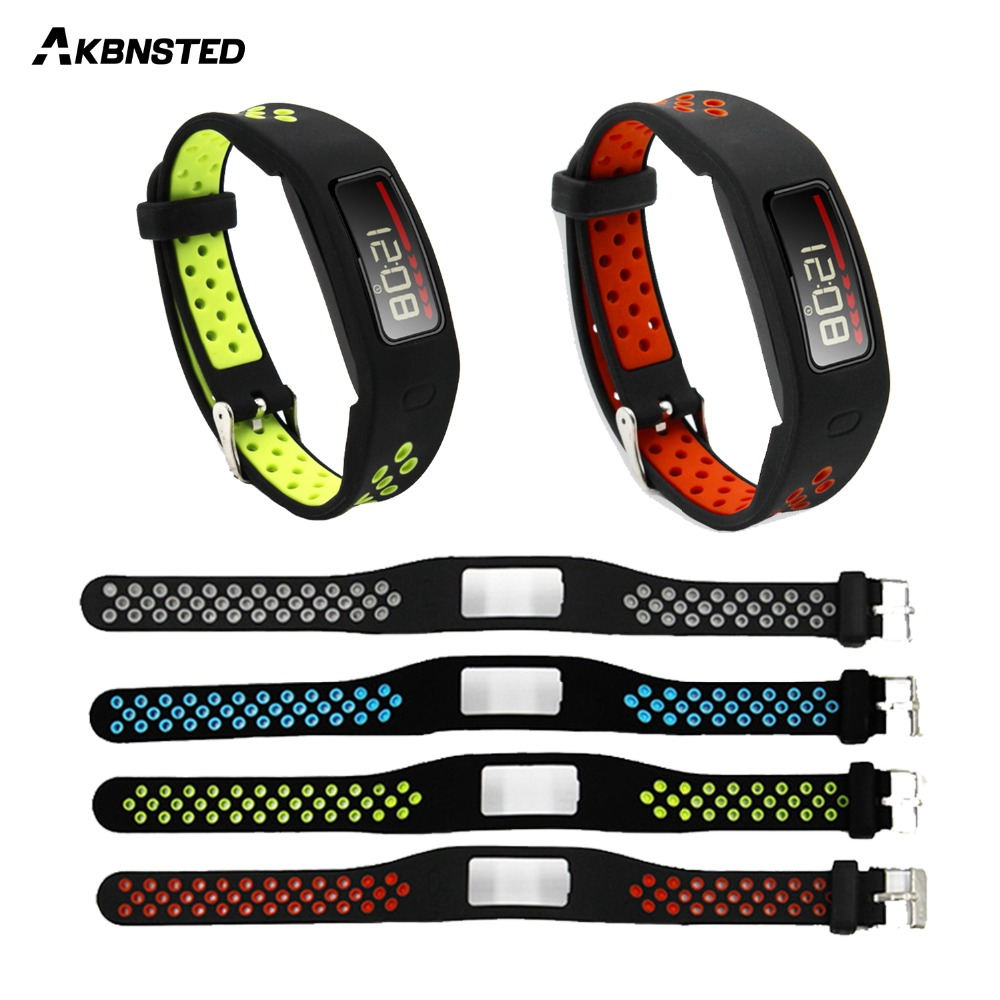 AKBNSTED Soft Silicone Replacement Watch Strap For Garmin Vivofit 1 Smart Bracelet Watch Band Accessories For Vivofit 1