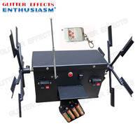 ELT02R double wheel remote control stage spinning cold fountain fire machine for party