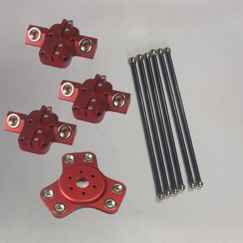 Reprap Delta Rostock Kossel k800 metal magnetic effector+ carriage+ 180mm carbon tube Diagonal push rods kit For DIY 3d printer