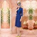 Maravilhoso Azul Royal Bainha Mãe de Vestidos de Noiva de Renda Com Jaqueta Na Altura Do Joelho Vestidos de Madrinha Vestido Mae da Noiva M148