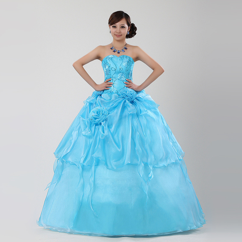 Sky Blue Theme Wedding Formal Dress Multicolour Costume In Dresses From Weddings Events On Aliexpress Alibaba Group