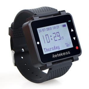 Image 2 - Retekess 433MHz Wireless Waiter Calling System Call Pager 1pcs Watch Receiver T128 + 10pcs Call Button T133 for Restaurant