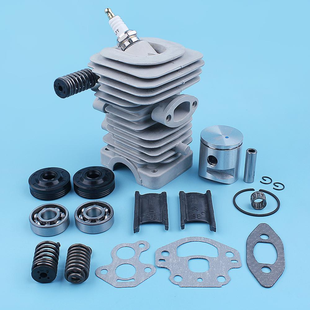 39mm Cylinder Piston Crankshaft Bearing Oil Seal Kit For McCULLOCH CS340 CS380 CS 340 380 S Chainsaw 38CC Replacement Parts