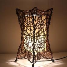 Тайваньский стол лампы для спальни простой креативный китайский Ретро лампа ротанговая лампа ручной LU726261