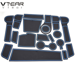 Vtear For Kia Rio 4 X-Line anti slip mat Anti-Slip gate slot door pad Interior decoration car-styling acccessories sticky 2017