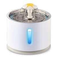 2.4L 自動猫噴水水位窓 LED 電気ミュート水フィーダー犬のペット酒飲みボウルペット飲料ディスペンサー