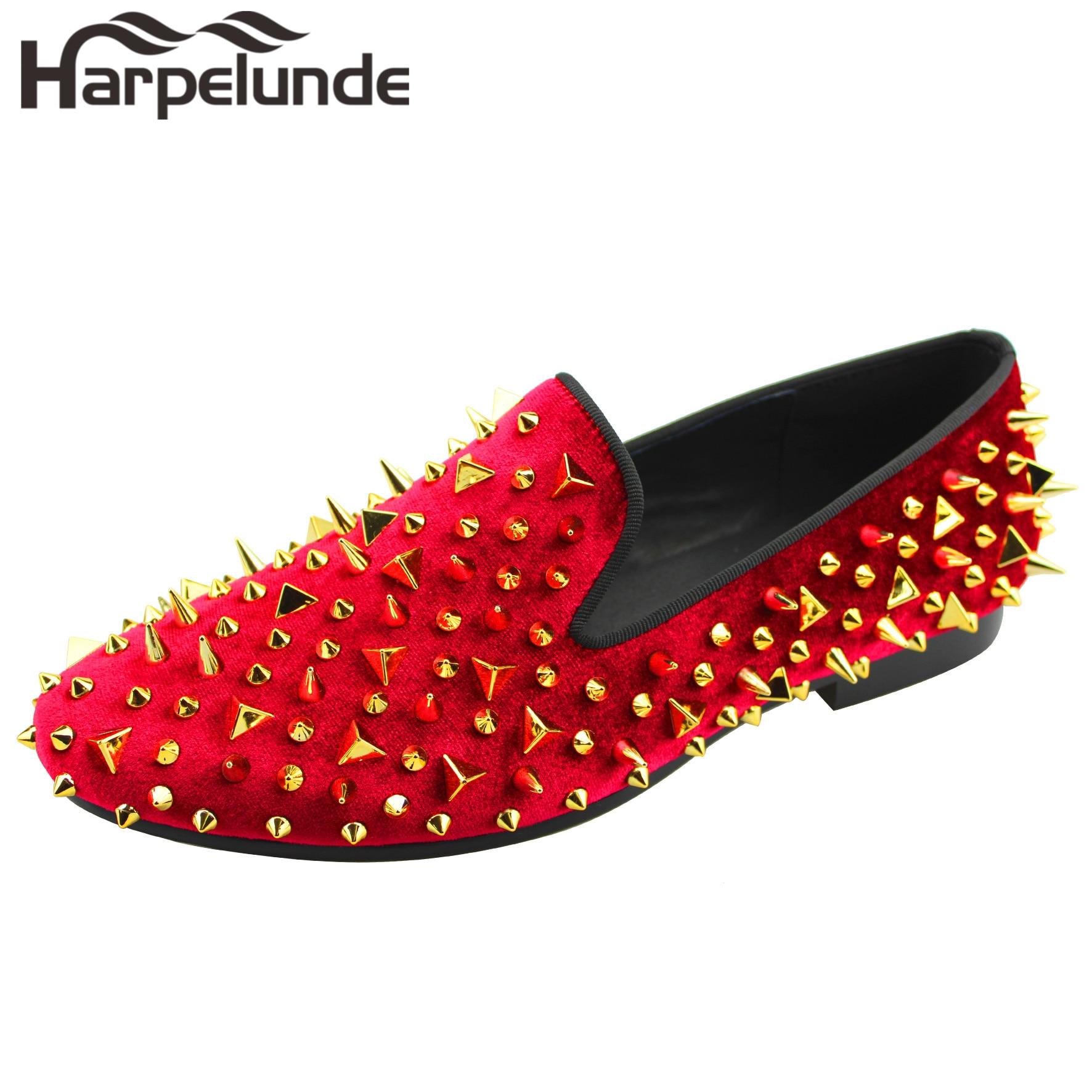Scarpe da uomo degli appartamenti di cristallo bianco nero rosso scarpe casual scarpe da tennis Degli Uomini Pattini Del Partito Punta Rotonda Lace up Scarpe Basse fannullone scarpe di Cuoio - 2