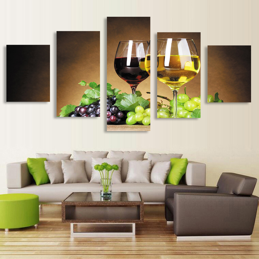 New Arrival 5pcs HD Canvas Art Painting Picture Wall