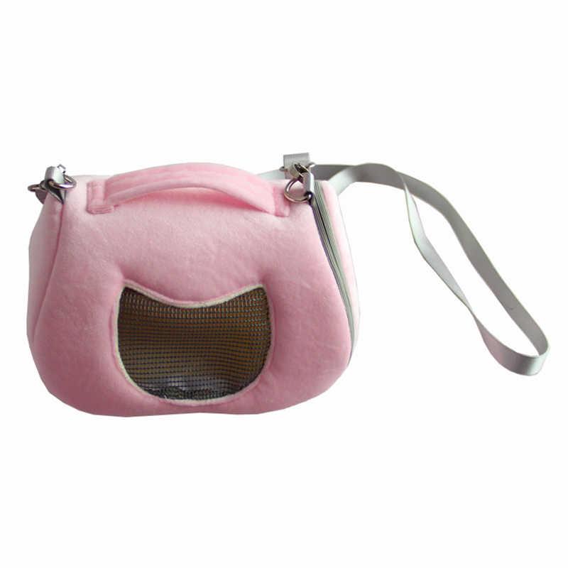 Sorriso Rosto Respirável Transportadora Gaiola de Hamster Habitat Ouriço Esquilo de Transporte de Viagem Ao Ar Livre Portátil Bolsa de Ombro