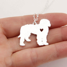 1pcs Goldendoodle Necklace Golden Doodle Dog Memorial Pet Necklaces & Pendants Gold Choker Women Charms Christmas Gift Lead Free