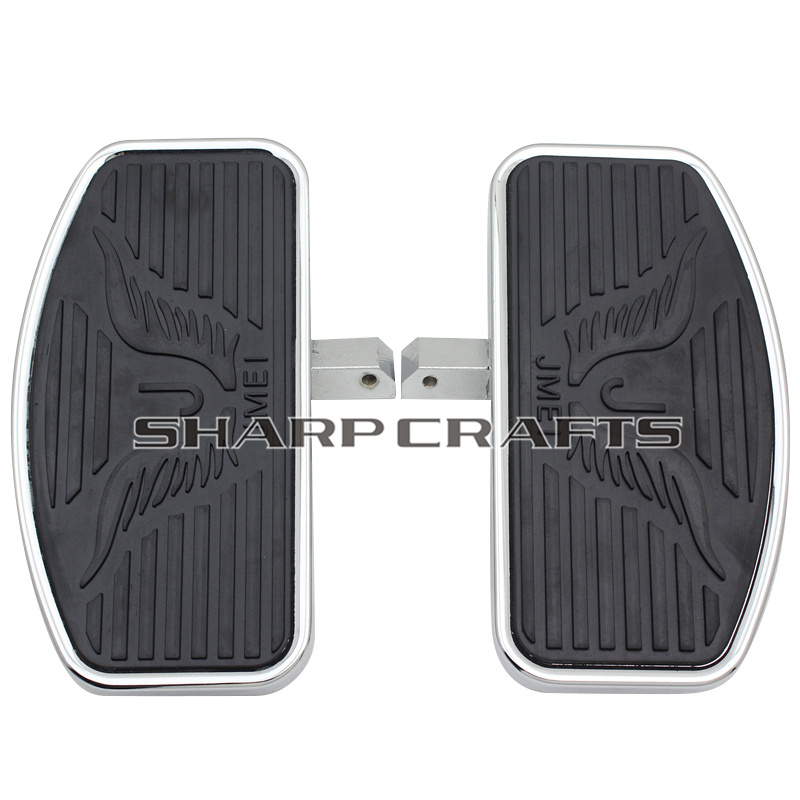 2 Size Rear Passenger Footpegs Floorboards Footboards Motorcycle For Yamaha Dragstar V Star DS400 DS650 DS1100