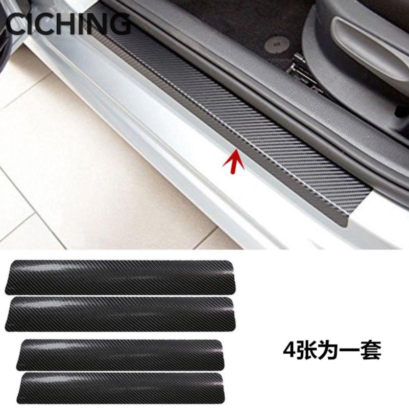 Auto Styling Auto Carbon Faser Tür Schwellen-verschleiss-Anti-Scratch-Aufkleber für Porsche cayenne macan 911 panamera 997 996 zubehör
