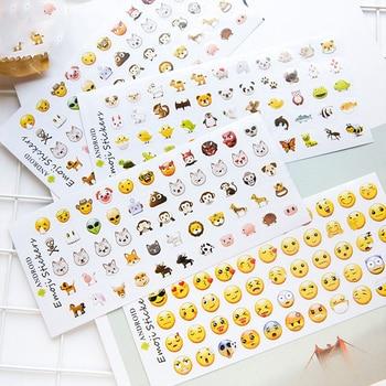 6 листов/набор 330 Эмодзи-Смайл лицо Стикеры для дневника DIY Kawaii Скрапбукинг Канцтовары стикер школьные принадлежности