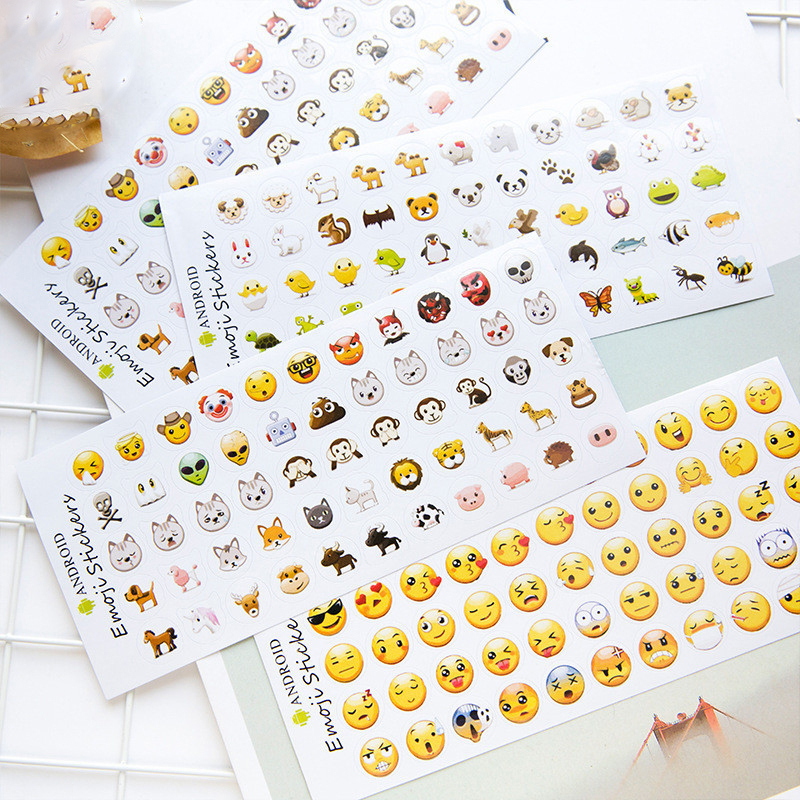 6 Sheets/Set 330 Emoji Smile Face Diary Stickers DIY Kawaii Scrapbooking Stationery Sticker School Supplies